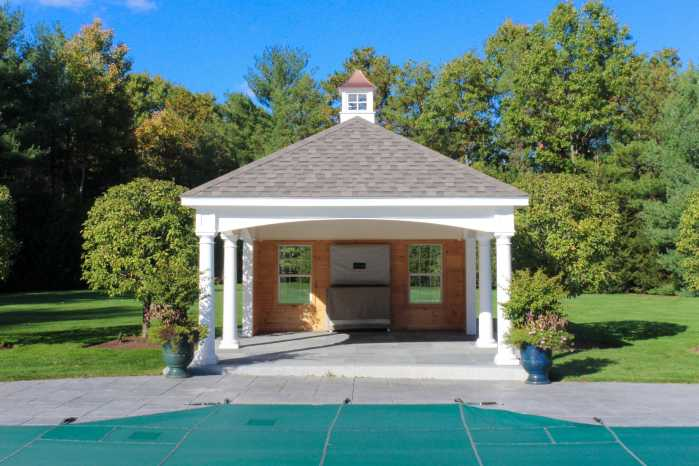 Custom Pool House Front View