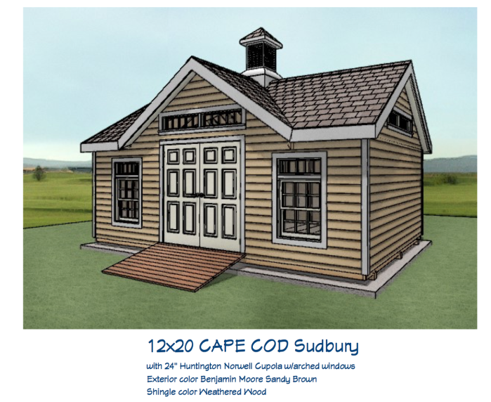 3D Concept drawing of custom shed