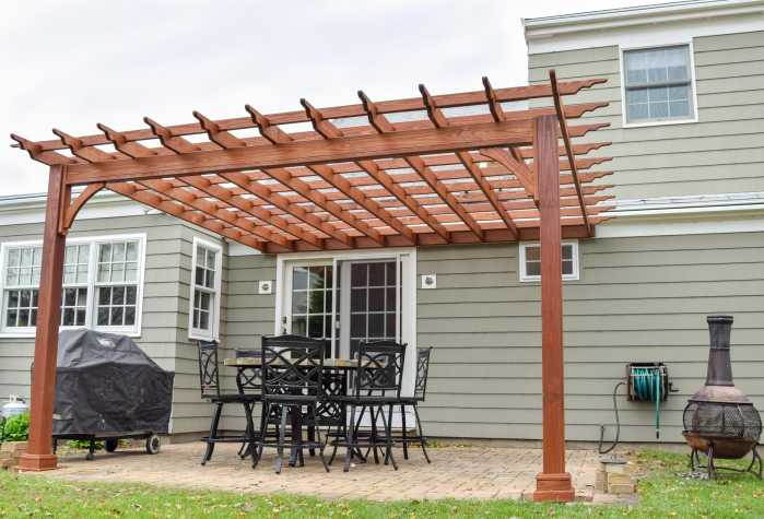 Wood Pergola Underside View