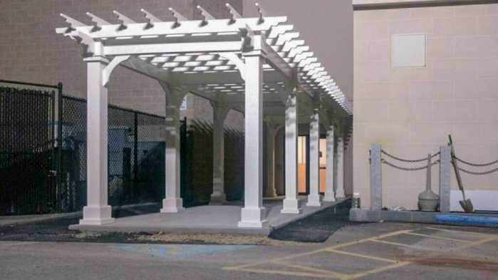 Custom Commercial Painted Pergola in Athol, MA