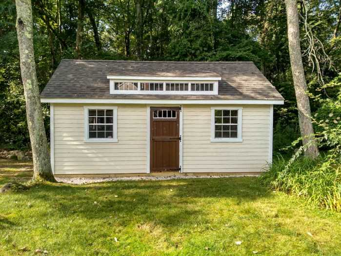 Custom 15x22 shed in Hopkinton MA