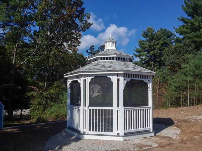 octagon gazebo with pagoda roof
