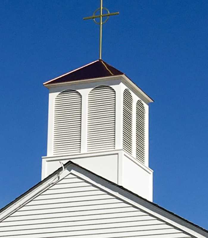 The finished steeple cupola