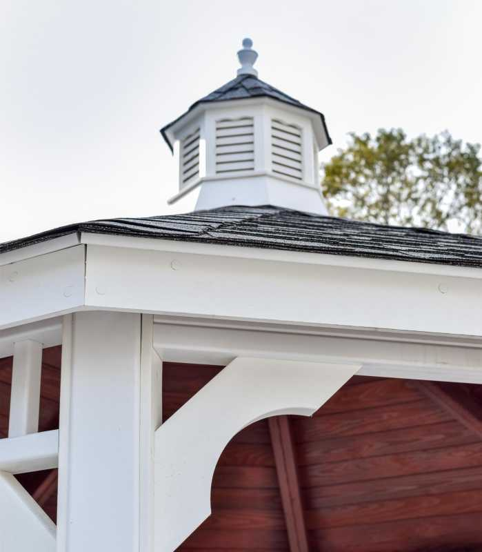 Vinyl Cupola on Vinyl Gazebo