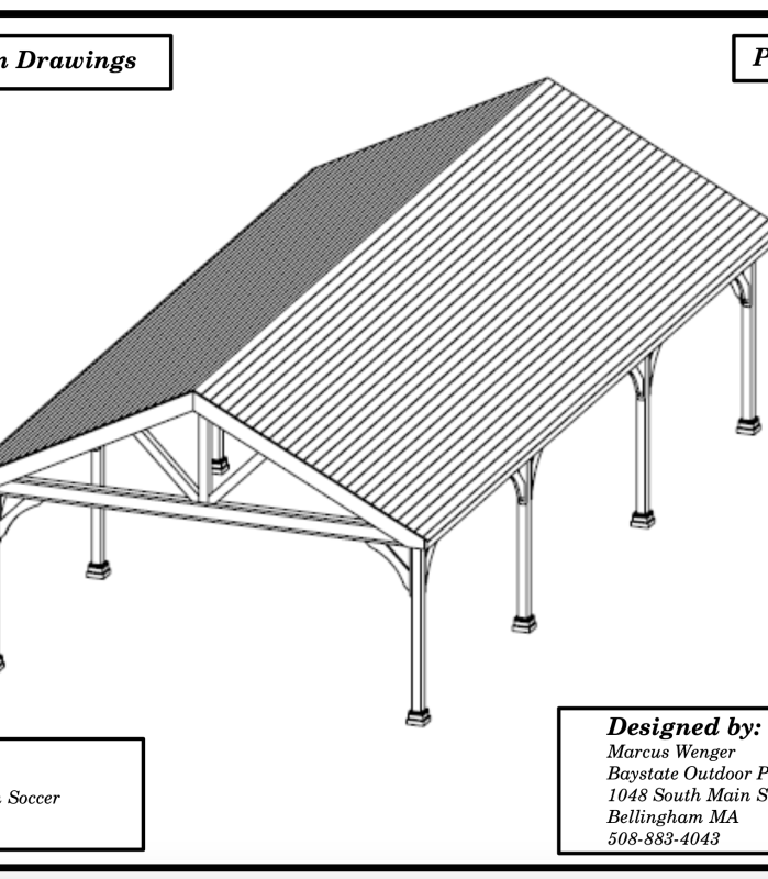 blueprint drawing of pavilion