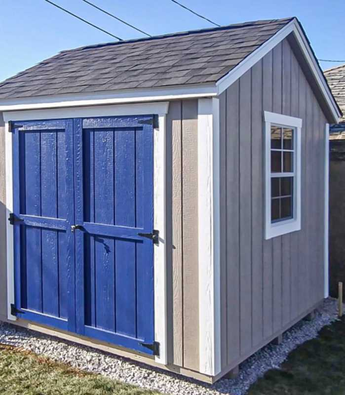 8x8 shed installation in Marshfield, MA