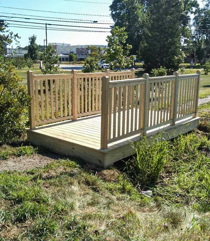 foot bridge in a commercial application