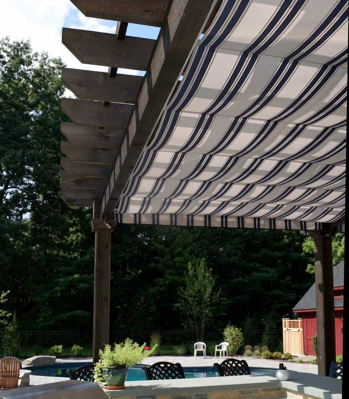 A Swan Custom Wood Pergola in Stowe, MA
