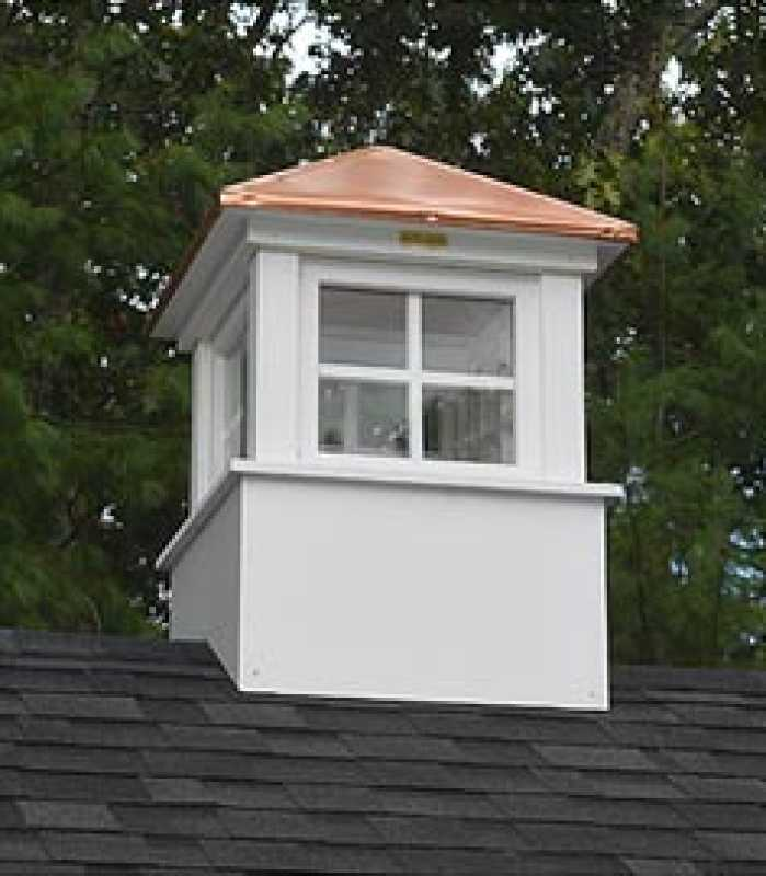 elegant cupola on poolside pavilion