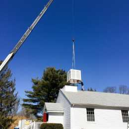 lifting a steeple middle part