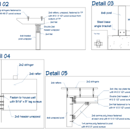 Custom Pergola Blueprint Details