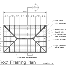 Blueprint of Pavilion Roof