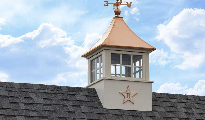 Cupola with a star monogram