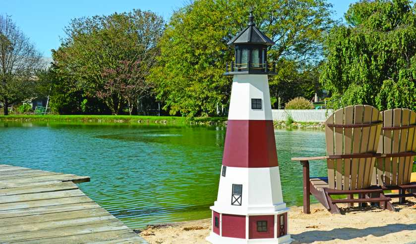5 foot poly decorative lighthouse for your backyard